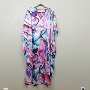 NWT Pink & Blue Nayla Long Caftan